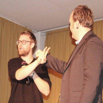 ... denn ein Poetry-Slam lebt von der Interaktion zwischen Künstler und Zuschauer.