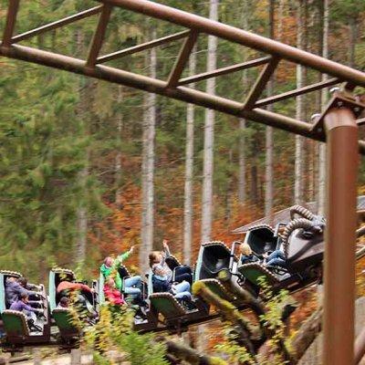Die Berg-Achterbahn - eine der großen Attraktionen.