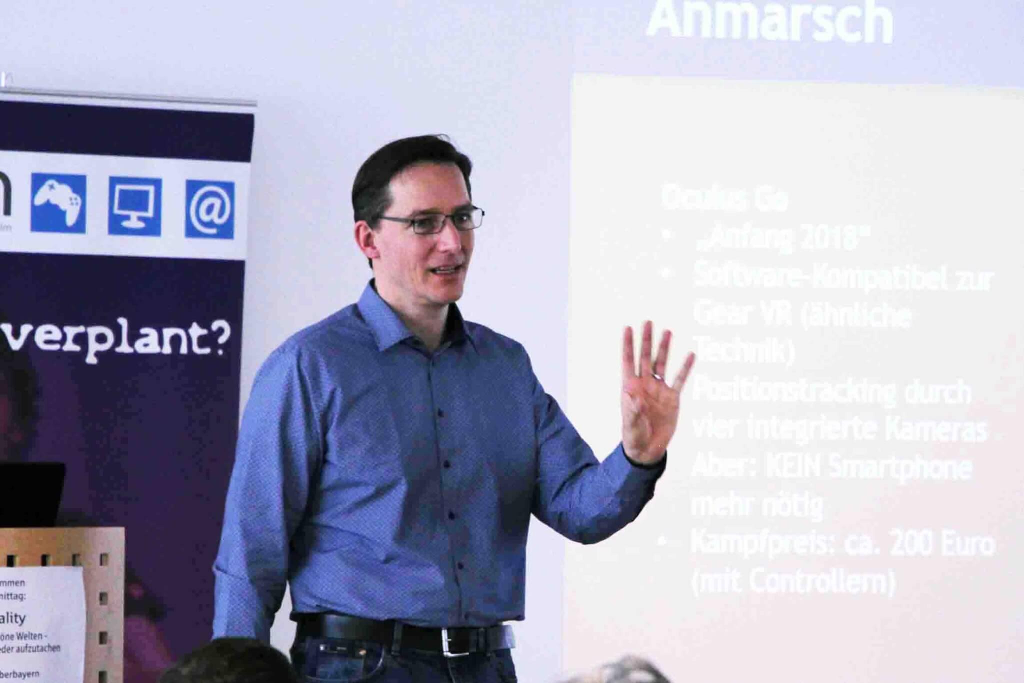 Digitaltrainer Daniel Wolff begeisterte seine Zuhörer.