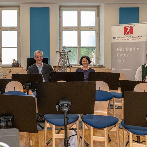 55 Stühle finden in dem neu modernisierten Probenraum Platz. Foto: Johannes Thomae.