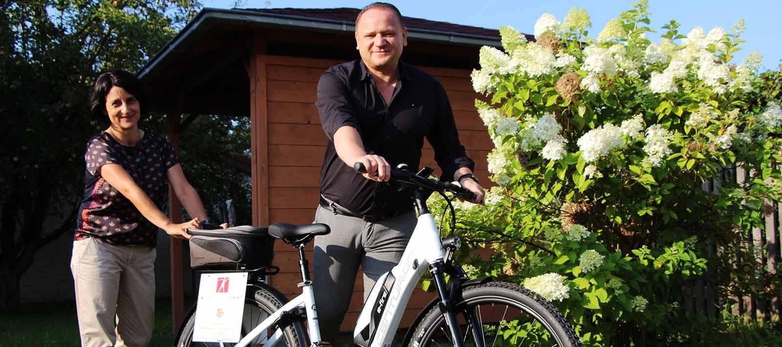 Mit dem E-Bike zum Klienten