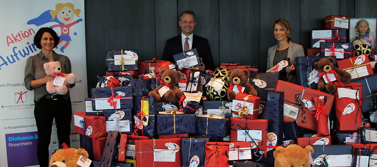 Aktion Aufwind beschenkt 464 Kinder zu Weihnachten